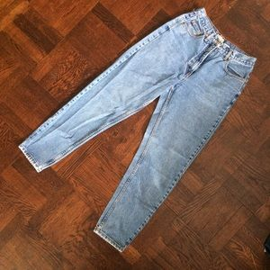 Perfect Vintage High Waisted Tapered Leg Jeans
